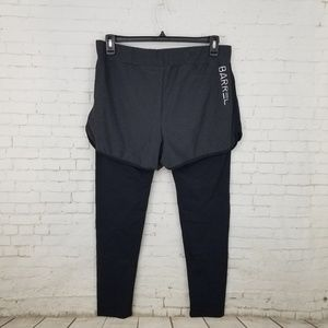 Barrel Pants - Sweat Twin Legging Pants with Shorts Running XL